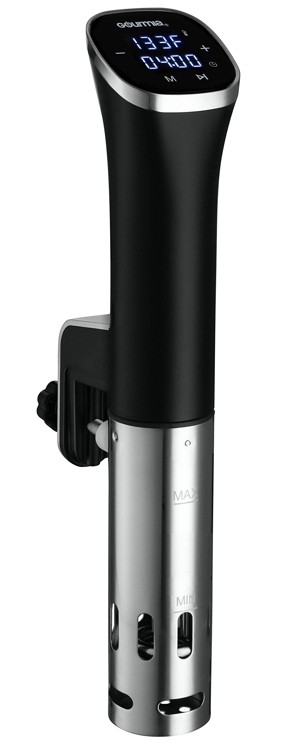 Gourmia GSV115 - Immersion Compact Sous Vide Pod with LED Display - Digital Timer - Accurate Cooking - 800 Watts - Recipe Book Included by Gourmia