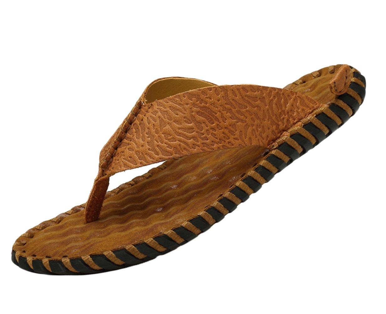 Icegrey - Sandalias de vestir de Piel Lisa para hombre 45|marrón