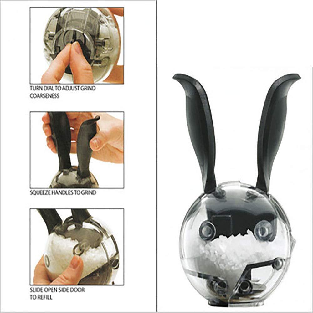 Saliera e pepiera in ceramica carino coniglio set regalo confezione da 2