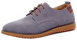 Dadawen Men's Grey(B) Leather Oxford Shoe - 7 D(M) US