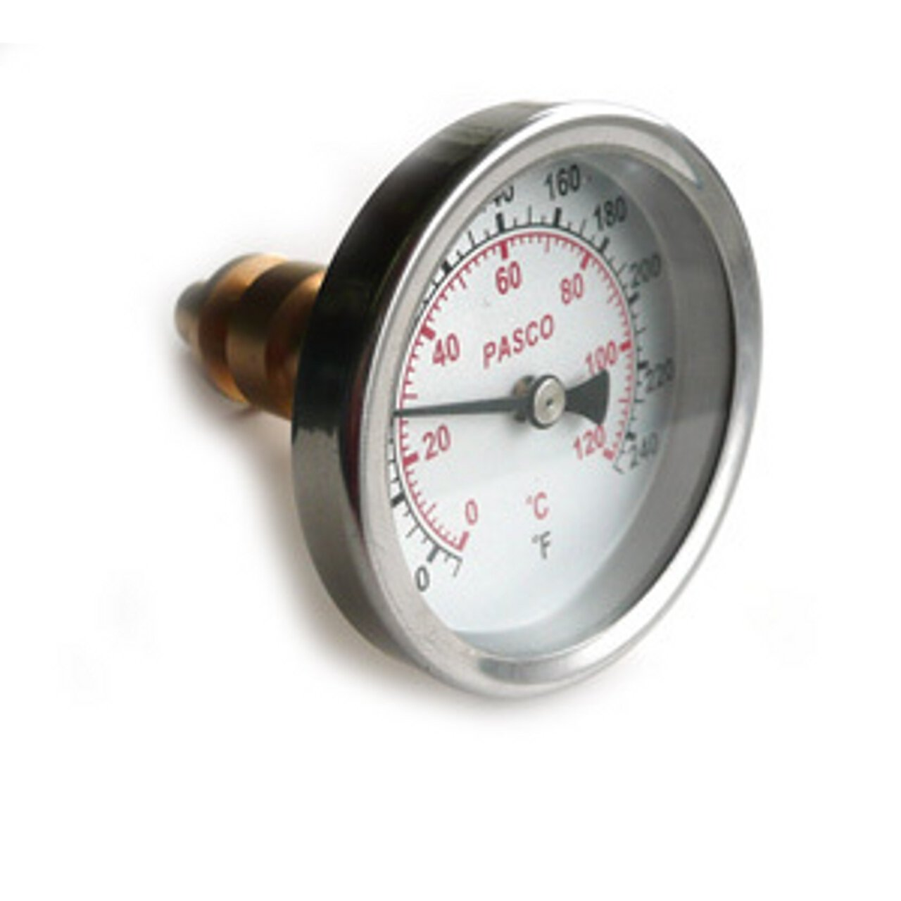 Pasco 1449 Dial Thermometer with Brass Well with 2.5-Inch Face
