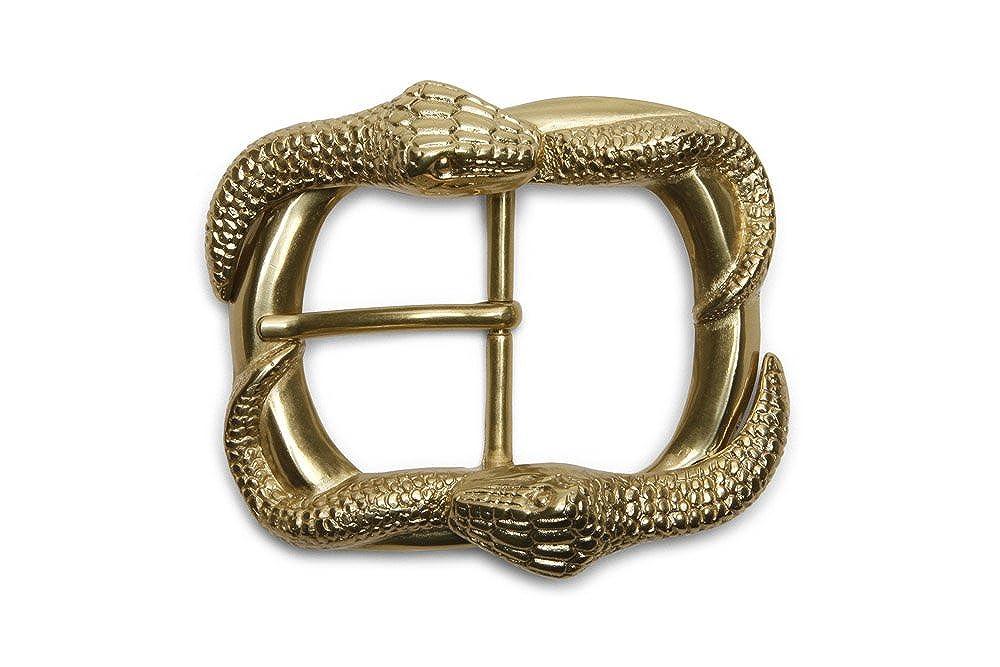 VaModa Fibbia per Cinture, Buckle, modello 'serpente dorato' 892982g