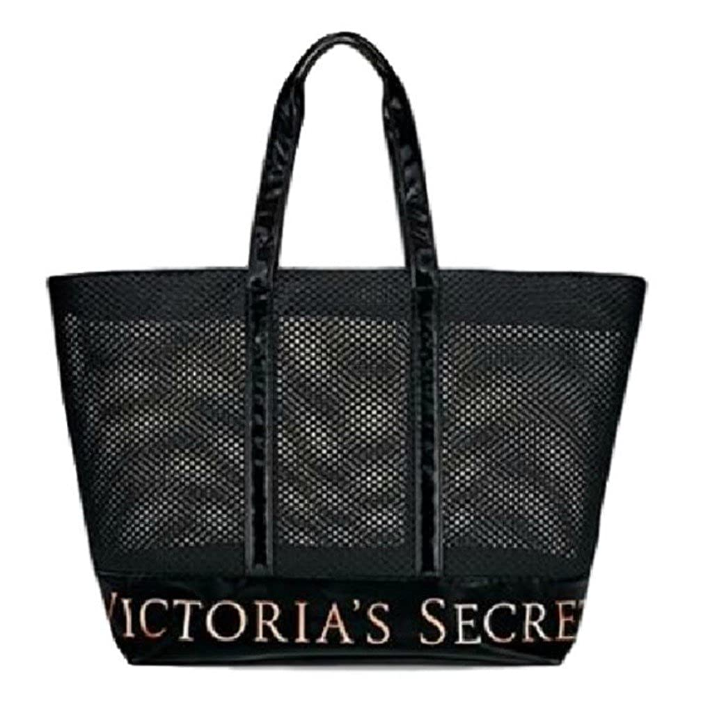 e1602954b Amazon.com | Victoria's Secret Large Mesh Black Weekender Tote Bag | Travel  Totes