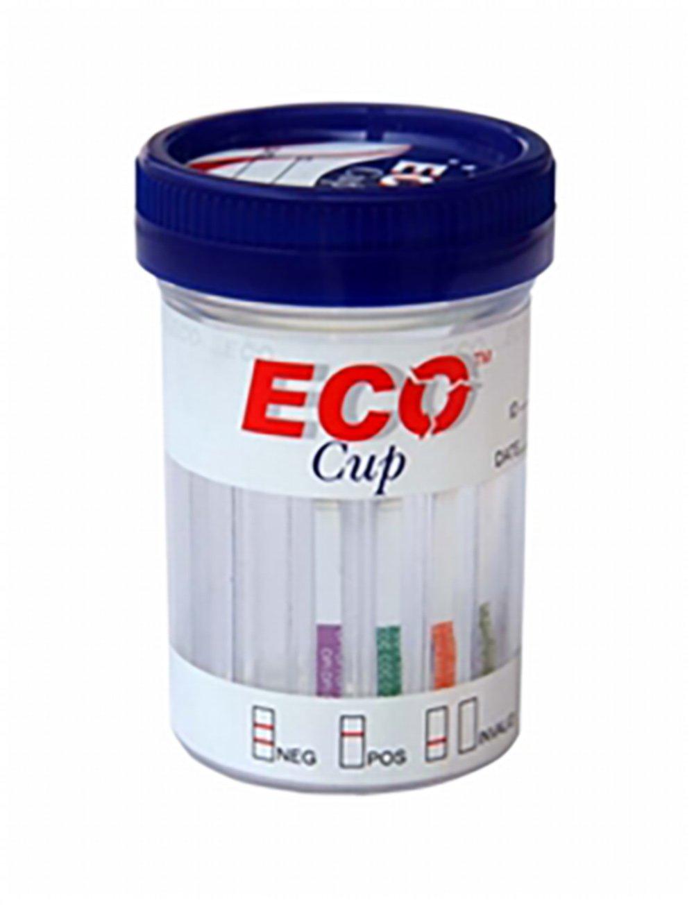 10 Panel ECO Cup II (. AMP/Bar/BZO/Pille/mAMP/MDMA T-/mtd/OPI/PCP/THC) CS/25