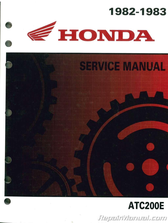 6195850 1982-1983 Honda ATC200E BIG RED ATV Service Manual pdf epub
