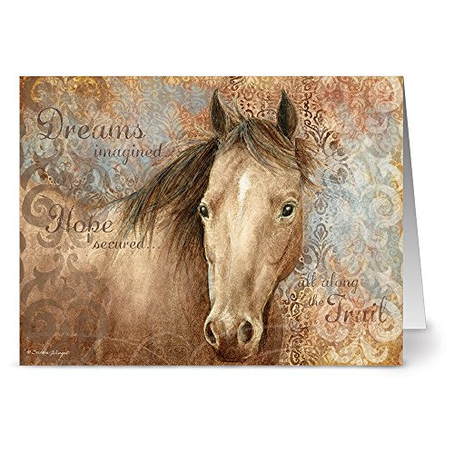 Stationery Horse (24 Note Cards - The Look Horse - Blank Cards - Kraft Envelopes Included)