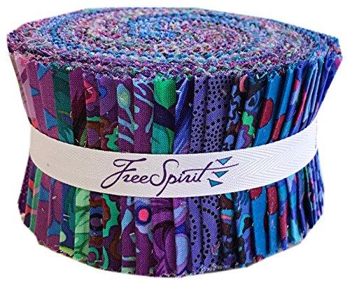 Free Spirit Fabrics Kaffe Fassett Collective Peacock Design Roll with 40 Strips 2.5 by 44 (Designs Fassett Kaffe)