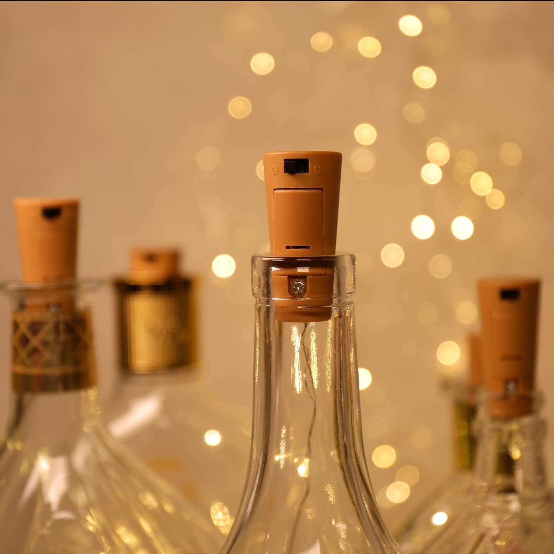 12 Pack luz de Botella,luces led para Botellas de Vino 2m 20 LED a ...