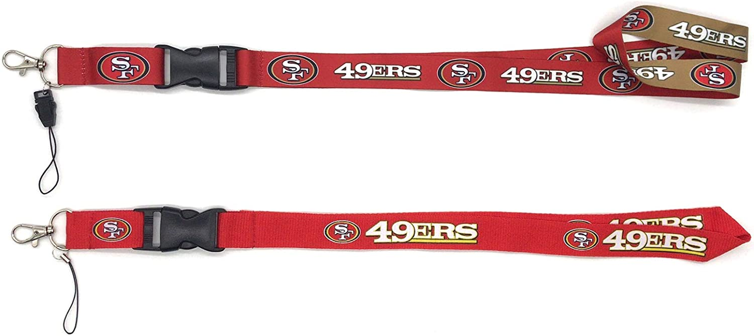 NFL Team Lanyard with Detachable Clip//Key Ring