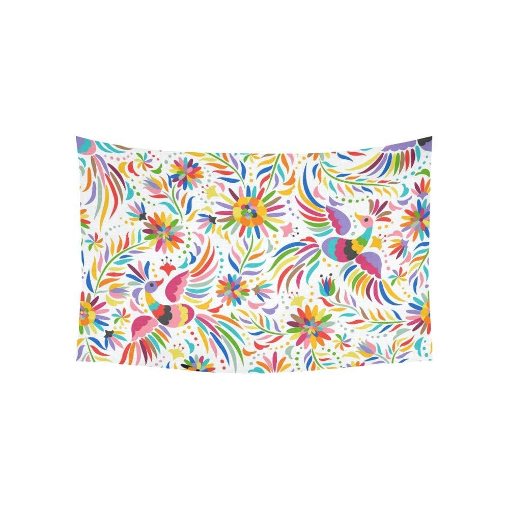LMFshop Tapiz Mexicano Colorido Adornado Tapices /étnicos Tapiz de Pared Flor psicod/élica Tapiz Colgante de Dormitorio Indio Decoraci/ón para Sala de Estar Dormitorio 60 X 40 Pulgadas