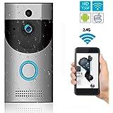 L@CR Video Doorbell, Inalámbrico Videoportero 720P HD con Audio Bidireccional Detección De Movimiento Y Conexión Wi-Fi Burglar Reminder App For iOS/Android/Windows