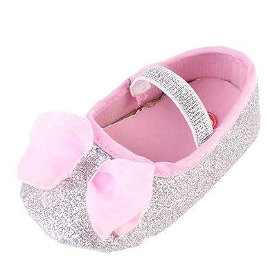 Voberry® Mode Bébé Fille Fleur Chaussures Sneaker Chaussures Anti Dérapant de la Main Douce D'Enfant en Bas Âge 1pc Hairband Toddler Sneaker pour 0-12 Mois Bébé