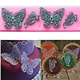 Butterfly Lace Mold Silicone Cake Mold Baking Tools Fondant Cake Lace Decorating Mold