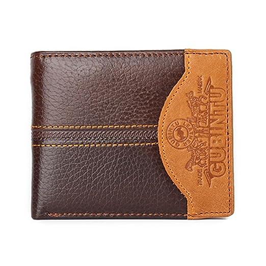 Famous Luxury Brand Genuine Leather Men Wallets Coin Pocket Zipper portfolio cartera (Car)