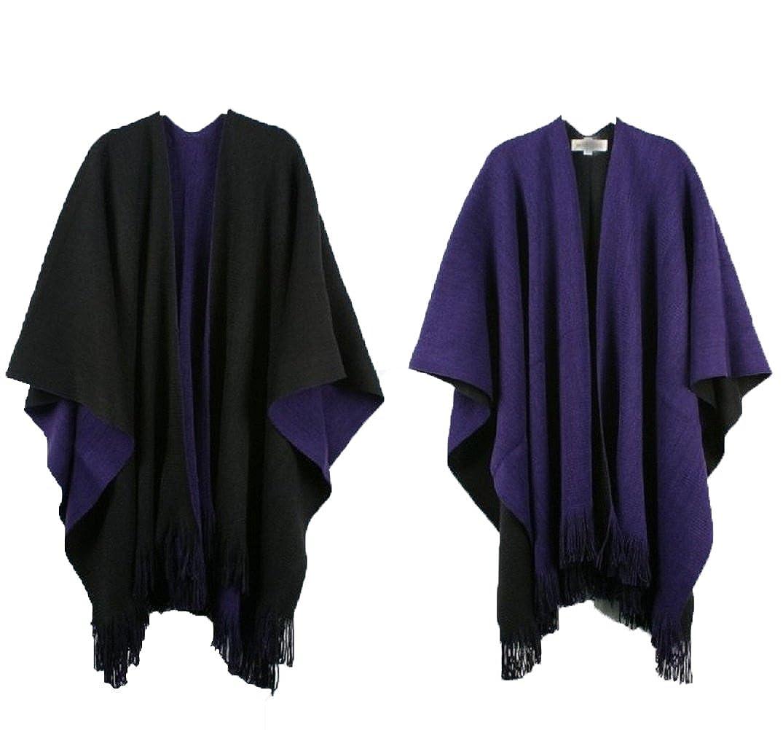Cape//Decke zum Wenden Samanthajane Clothing Damen-Poncho//Umhang