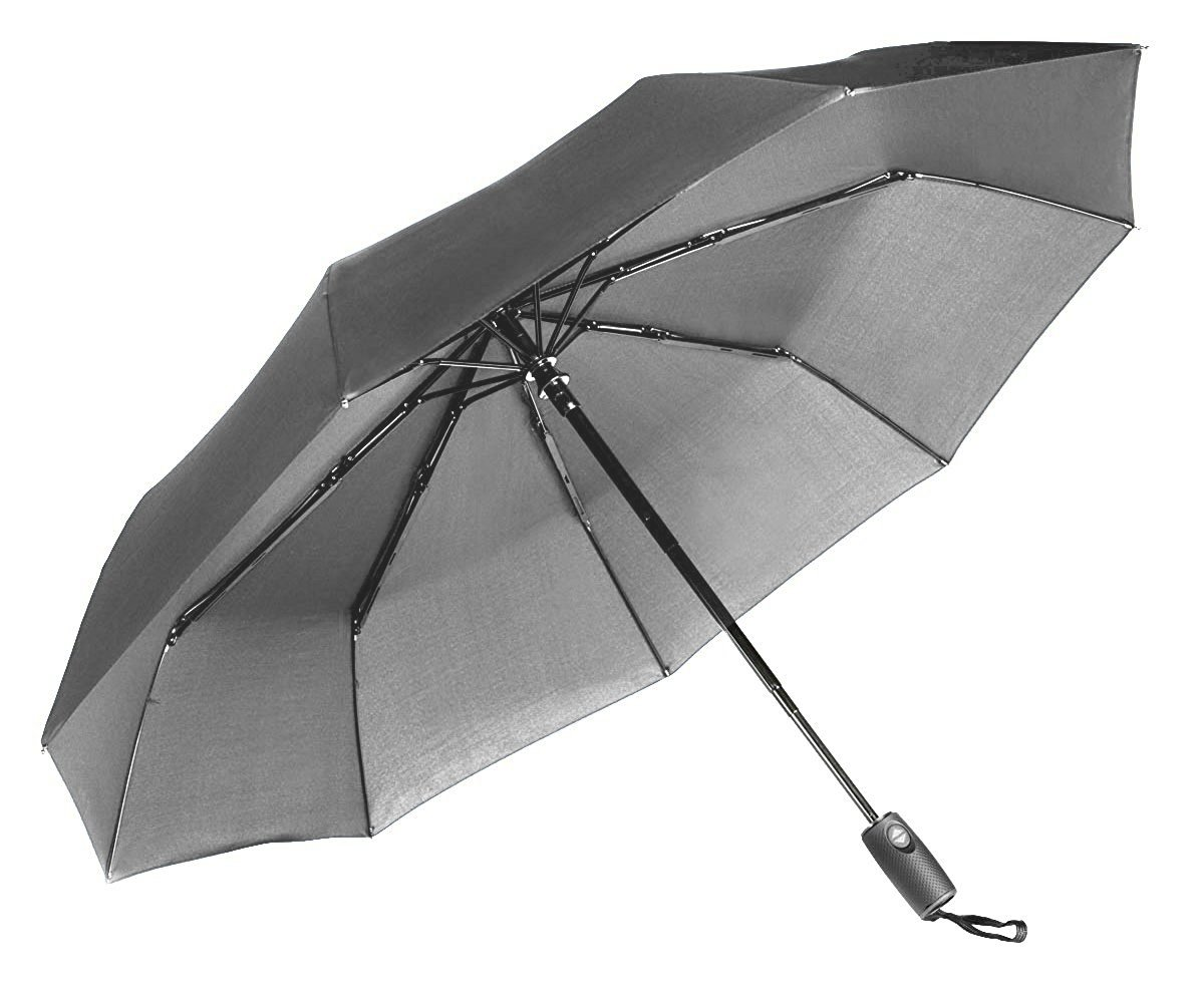 Repel Windproof Travel Umbrella Teflon Coating (Gray) by Repel Umbrella