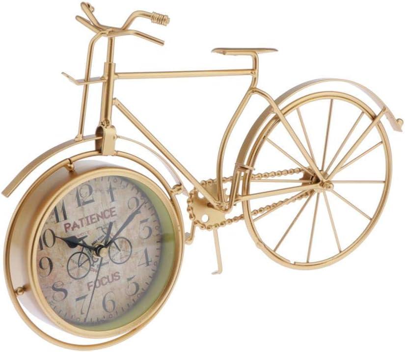 Reloj de Bicicleta Rústico, Reloj de Mesa, Adorno de Mesa: Amazon ...