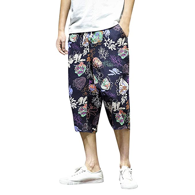 YIhujiuben Mens Athletic Fitness Camo Printed Runnung Leisure Harem Pants 1 L