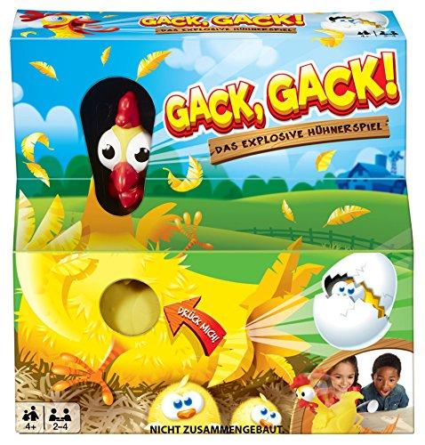 Mattel Games FRL48 - Gack Gack lustiges Hühnerspiel und Kinderspiel geeignet für 2 - 4 Spieler, Kinderspiele ab 5 Jahren 1