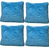 4-pack Sea Lion Velvet Throw Pillow Case Cushion Cover Fashion Home Decorative Pillowcase (Blue)