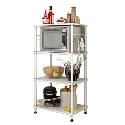 Estantes y soportes para ollas y sartenes HWF Estanterías de Cocina Estantería de Horno de microondas
