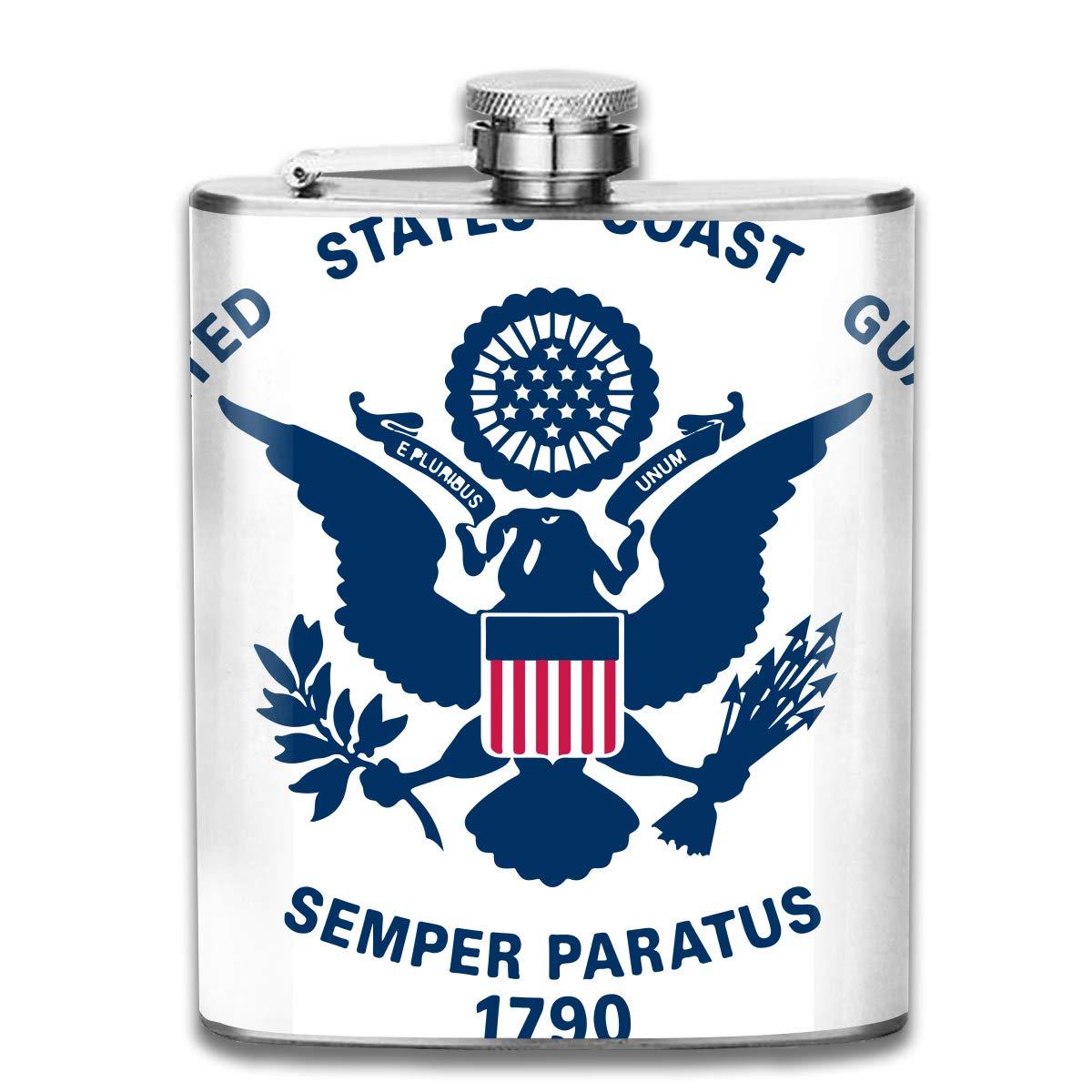 Kupik ポータブル7オンスステンレススチールフラスコ 米国沿岸警備隊 1790 ミニフラゴン レザーパッケージ ジャグ フラゴン メンズ レディース ギフト   B07KT52LMS