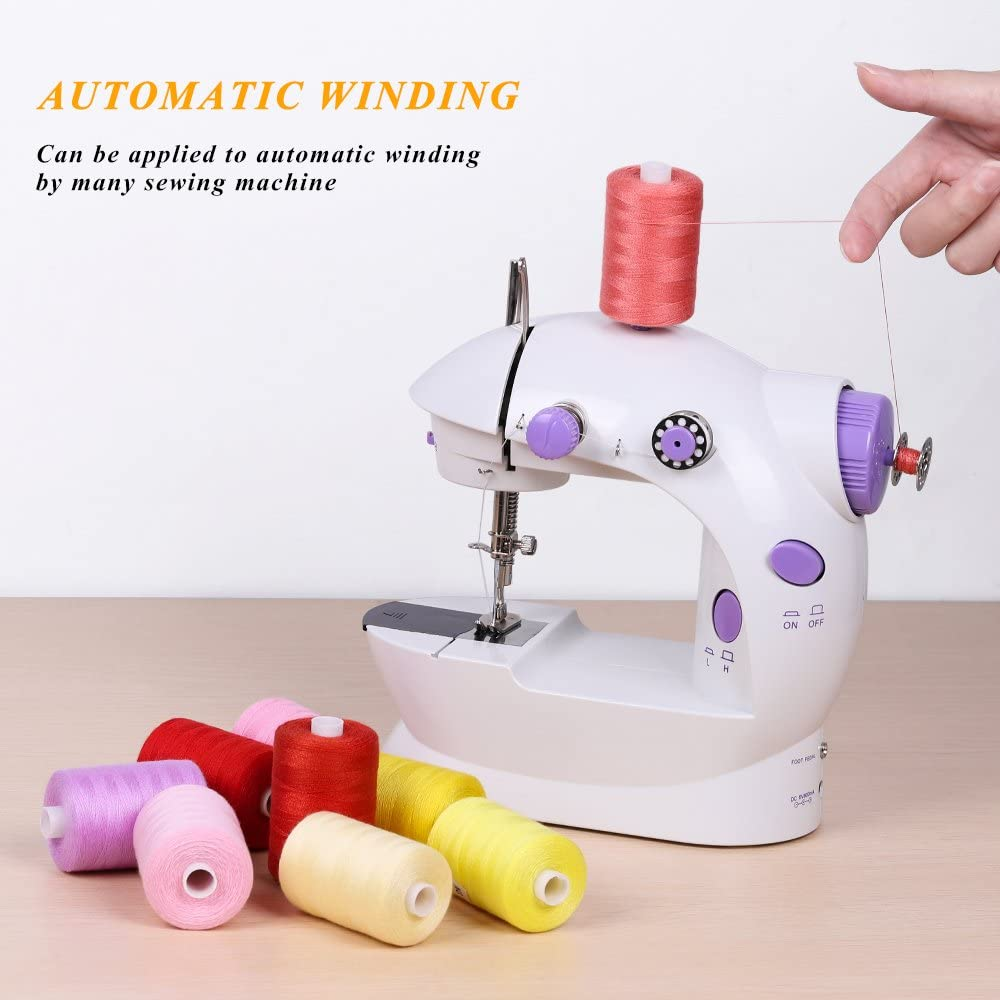 Better Chance Sewing Threads 250 Yard Each Assorted Spool with Rainbow Color Sewing Thread Kit for Mini Portable Sewing Machines /& Hand Sewing