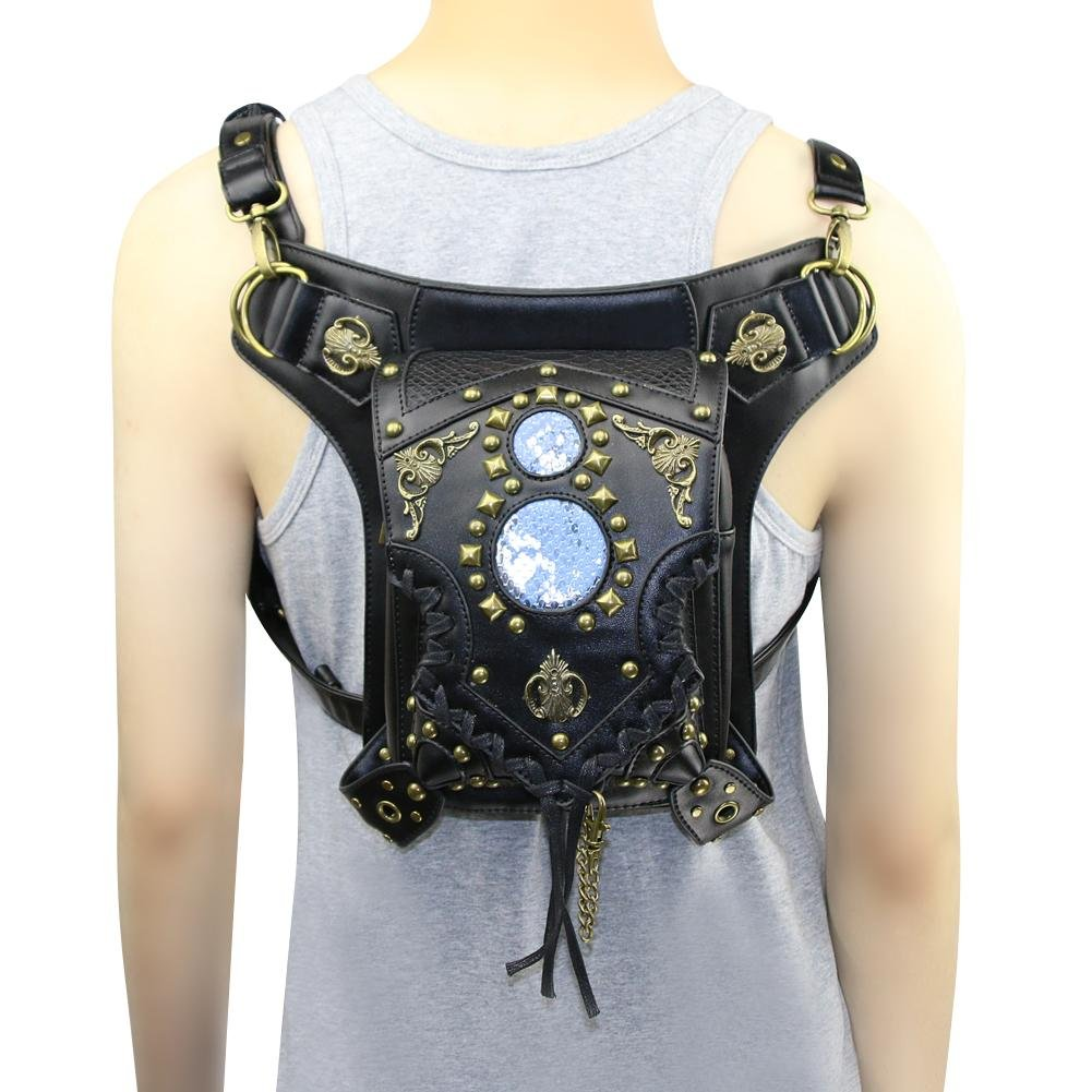 WPYZL Multi - functional women 's shoulder oblique cross - chain package punk pockets by Bumbag&KAIMENDAJI (Image #4)
