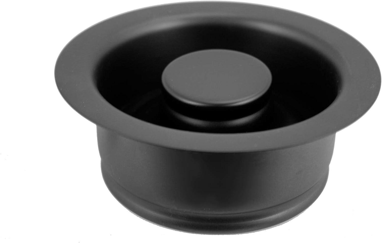 Westbrass InSinkErator Style Disposal Flange & Stopper, Matte Black, D2089-62