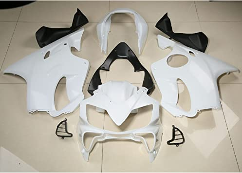 XMT-MOTO ABS Fairing Cowl Bodywork Set fits for YAMAHA YZF R6 YZF-R6 2006-2007,Unpainted White,with Windscreen