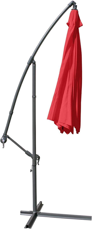 Beige Chiusura a Manovella Colore a Scelta Nova Ombrellone Decentrato Diametro 3,5 m Inclinabile con Protezione UV 30