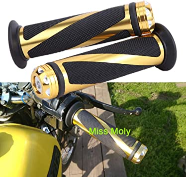 Universale 7//8 Alluminio Motociclo Manopole per Scooter Sports Bike Street Bike Manopole moto