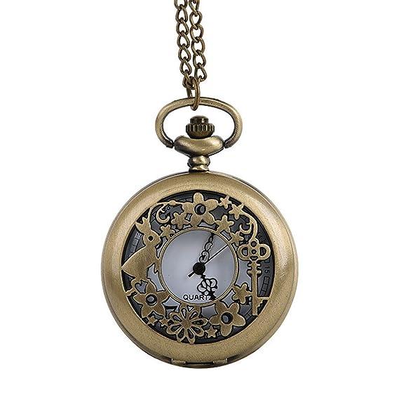 tianfan Vintage Drink Me reloj de bolsillo cuarzo reloj Alice en el país de las maravillas Conejo: Amazon.es: Relojes