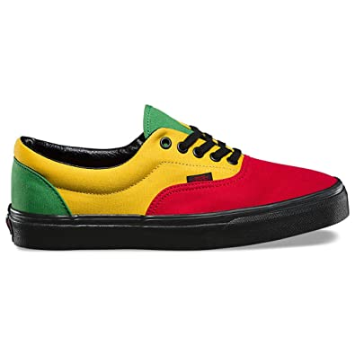 15c89d7f241d61 Vans Era Red Black Mens 4.5