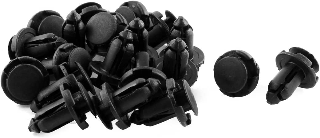 20 Pcs Plastic Rivet Push-Type Clips 9mmx17mmx18mm