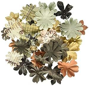 "Printery Essentials II Paper Flowers 1.25""-2"" 65/Tube-"