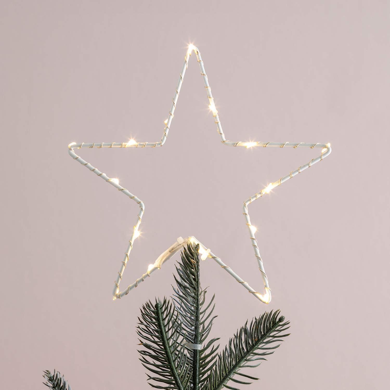 Leuchtstern sapin de Noël dekostern décorations de Noël sapin étoile LED 230v