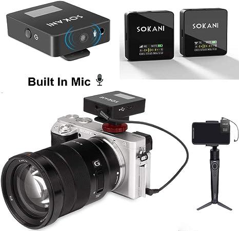 SOKANI Tiny UHF Wireless Lavalier Microphone System,Wireless ...