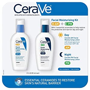 CeraVe Facial Moisturizing Lotion 3oz. AM/PM Bundle