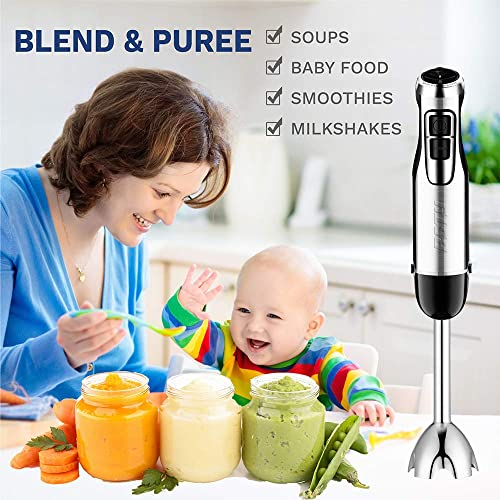 BSTY 5-in-1 Hand Blenders Set 15-Speeds Powerful Immersion Blender