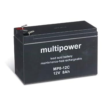 Powery Recambio de Batería para Equipos de limpieza SAI 12V ...