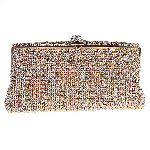 Fawziya Crown Clutch Evening Bag The Night Bags For Womens Purses-Gold