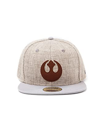 601529fdec5 Bioworld Star Wars The Force Awakens Rebel Alliance Logo Patch Canvas  Snapback Baseball Cap Beige