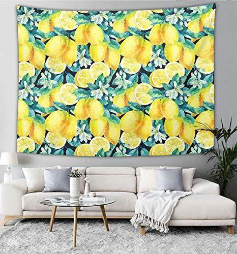 Lemon Fruit Leaves Wall Tapestry Hippie Art Tapestry Wall Hanging