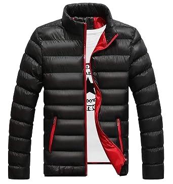 Amazon.com: Hombres chaqueta con capucha con cremallera ...