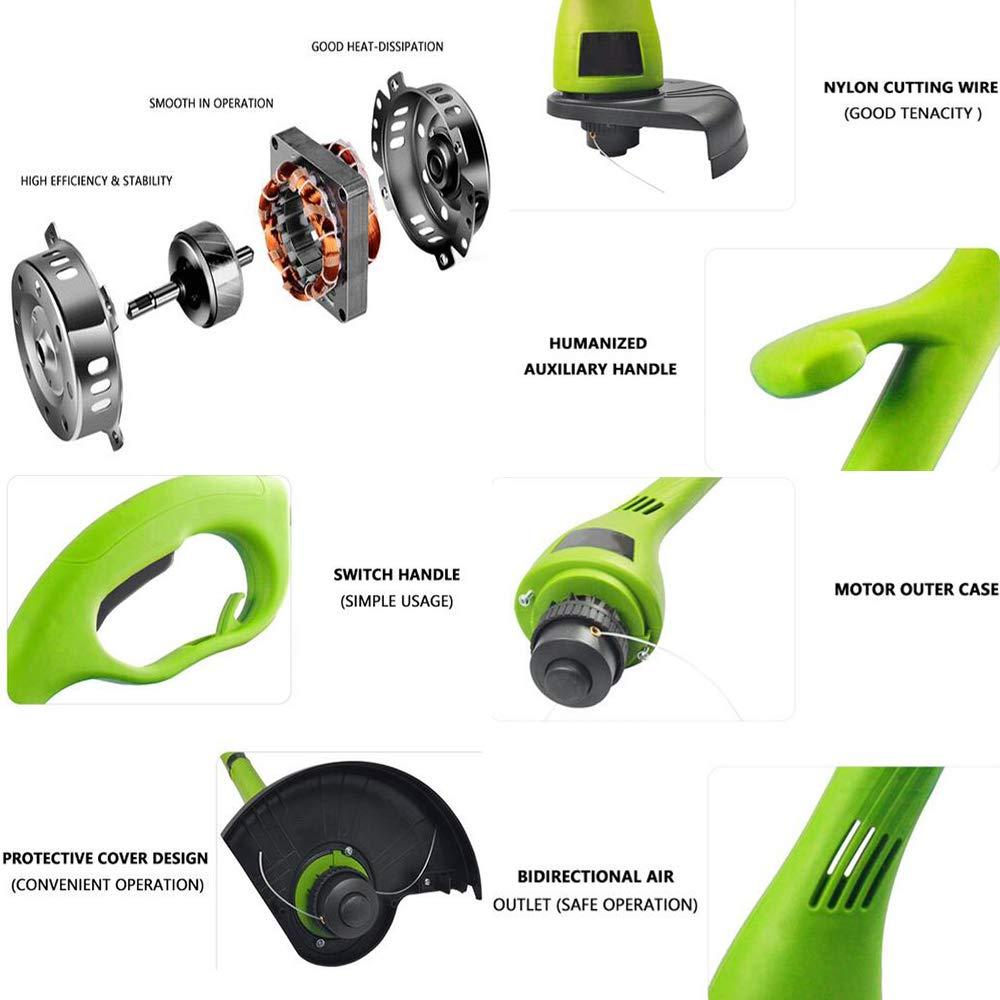 Gyj&gyt Cortacésped eléctrico de 400 W, diámetro de Corte de ...