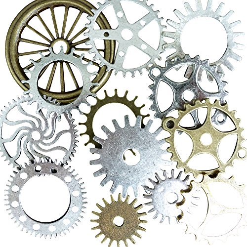 Traveler Costume Time Steampunk (13pcs Steampunk Antique Bronze Brass Tibetan Jewelry Findings Mix Lot)