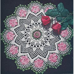 Vintage Crochet PATTERN to make - Wild Rose Flower Doily Motif. NOT a finished item. This is a pattern and/or instructions to make the item only.