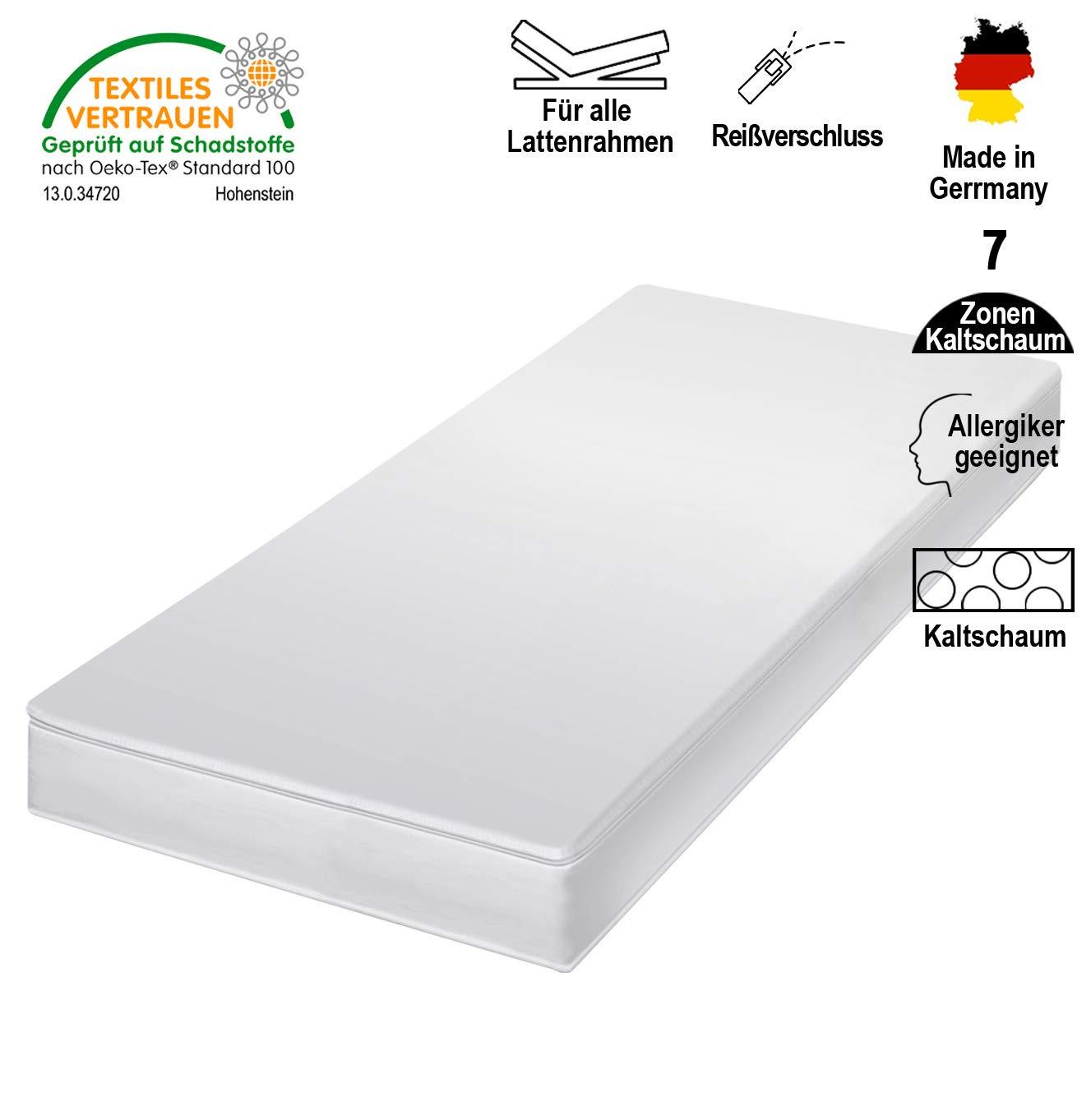 Cpt hydrovital Kaltschaummatratze - 7 Zonen Matratze - Härtegrad H2 H3 - Rollmatratze - Made IN Germany (120 x 200 x 12 cm, H3)