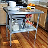 Sportsman Stainless Steel Work Table, 24 by 60-Inch